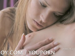 Soft and intimate lesbian compilation from Femjoy