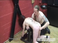 Masochistic slave fisted by her master