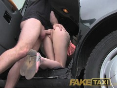 FakeTaxi Slim blonde likes it rough in back of cab