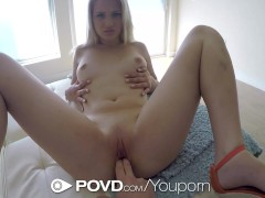 POVD - Aubrey Gold grinds her hips hula hooping for her man