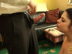 Public disgrace! Lucia Love fucked outside like a street whore