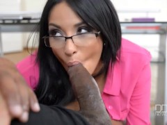 French Goddess Anissa Kates takes a Giant Black Cock in her tight Ass