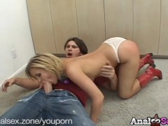 Submissive blonde Sasha Knox gets tied up, then fucked in tha ass