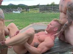 RagingStallion HOT Threesome Outdoors!