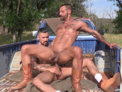 RagingStallion Boomer Banks' Huge Cock Fucking Outdoors