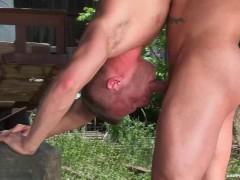 RagingStallion Outdoor Intense Orgasm