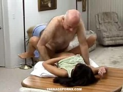 horny asian slut fucked in a lonely parking lot by old man
