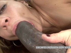 Slutty coed Kirra Lynne is pounding a big black cock