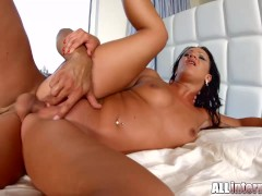 AllInternal Dark haired babe Nia gets her pussy filled with warm cum