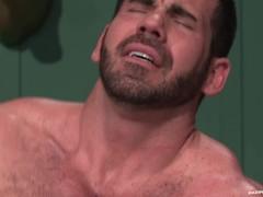 RagingStallion Hairy Billy Santoro Fucked Right Up His Asshole
