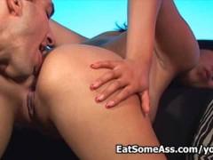 Dirty little slut Celina Cross sucks huge cock like a pro