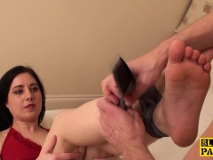 Obedient sub pleases her master with ...
