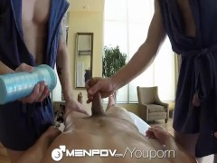 MenPOV - Sean Blue & Friends Fuck In Threesome POV Style