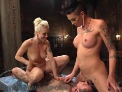 Wild Threesome For Wannabe Playboy