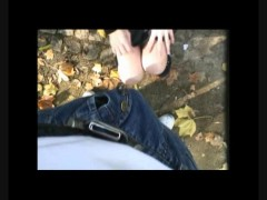 Real amateurs homemade public sex footage of Scorpions outdoor blowjob and exhibitionist fucking in the park