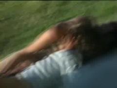 Voyeur caught teens fucking on the grass like rabbits