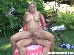 Busty Blonde Mom Devon Lee Outdoor Fucking Fun