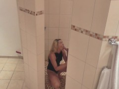 naughty-hotties.net -  swimsuit shower cheating quickie - oral creampie.mp4
