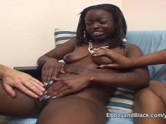 White guy with two black amateurs