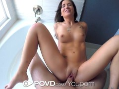 POVD - Gia Paige is showing her perfect body behind the shower glass