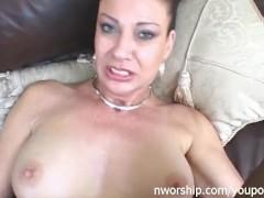 slut milf wants cock in her ass interracial sex