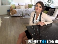 PropertySex - Ridiculously attractive real estate agent fucks her ex at showing