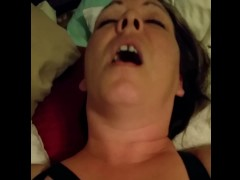 Milf wife begging to cum, squirts all over.