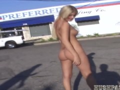 Hot Lacie gets butt naked in the streets!