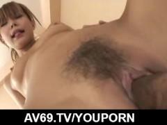 Sweet Japanese office babe, Aya, tries cock at work