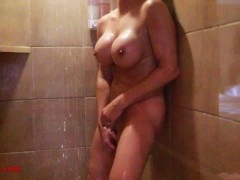 Audrey, gode my self in the shower before going out