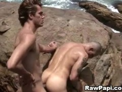 Black and White Papis on Intimate Anal by the Beach
