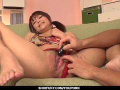 Maika moans hard with toys to crack her pussy and ass