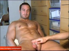 Enzo, A innocent straight delivery straight guy serviced by a guy!