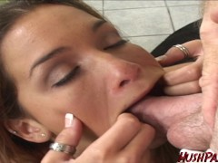 18 and Takes 3 loads of cum in Teen Cum Dumpster!