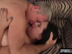 Plump Becki fucked and eats cum