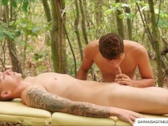 Young Gay Boy Outdoor Sex Massage