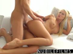 NubileFilms - Sexy Blonde Fucks Sisters Boyfriend
