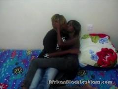 2 Hot African beauties Alexis and Jasmine go wild in homemade