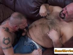 Cocksucking top bear ass banging superchub