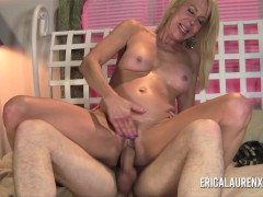 HOT Blonde MILF Fucks Young Stud