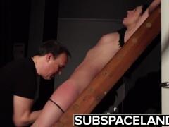 Bdsm Hardcore Spanking Sex Slave Swallows Cum After Bondage Submission