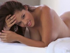 Babes - Aria Salazar plays with her pussy