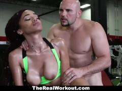 TeamSkeet - Fit Ebony Babe Fucked At Gym