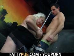 He doggy-fucks super huge tits blonde bbw