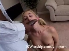 wet creamy pussy fuck white blonde slut vs black cock