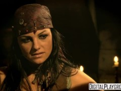 Classic Pirates 2: Jesse Jane and Belladonna in hot rough lesbian sex