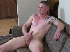 ActiveDuty Shy Soldier Nathan Jerks his Cock
