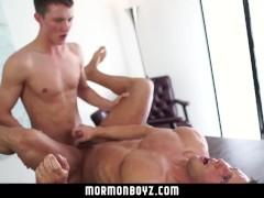 MormonBoyz-Straight buddies try bareback anal