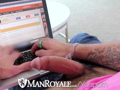 ManRoyale Guy caught masturbating online by bf