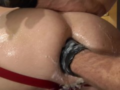 Club Inferno Dungeon: Extreme Dildo for His GAPE